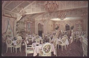 HOUSTON TEXAS Brennans French Interior Restaurant Vintage Postcard