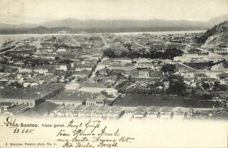 brazil, SANTOS, Vista Geral (1905) Marques Pereira No. 1
