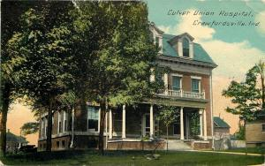 Crawfordsville Indiana~Culver Union Hospital~Neighborhood Homes~1913 Postcard