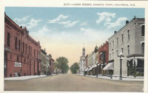 COLUMBUS , Wisconsin, 1910s ; James Street