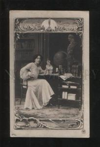 057884 Lady as COMPOSER in ART NOUVEAU old PHOTO NPG