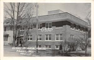 C26/ Stanley Wisconsin Wi Postcard Real Photo RPPC '53 Victory Memorial Hospital