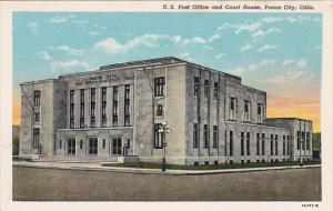 PONCA CITY, Oklahoma, 1930-1940's; U.S. Post Office And Court House