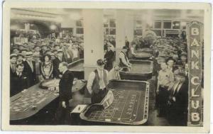 RPPC of Bank Club, Interior View, Reno, Nevada, NV, 1932
