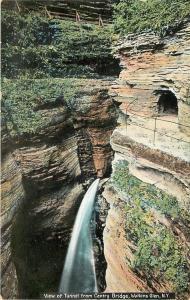 Watkins Glen New York~Tunnel From Centry Bridge~Water Falls~c1910 Postcard