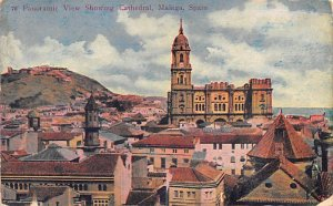 Panoramic View showing Cathedral Malaga Spain 1911