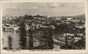 Brisbane Australia From Toorak Hill Real Photo Postcard
