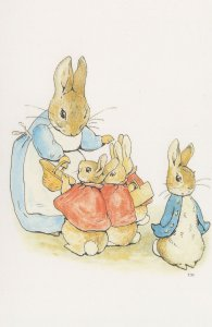 The Tale Of Peter Rabbit 1902 Mrs Beatrix Potter Old Book Postcard