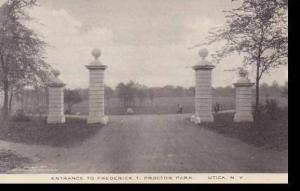 New York Utica Frederick T Proctor Park Entrance Albertype