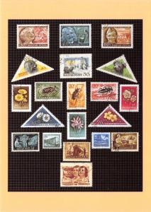 Postal History Postcard, A Page from Freddie Mercury's Childhood Stamp Album V54