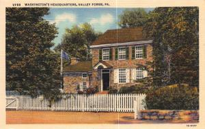 Washington's headquarters, Valley Forge, Pennsylvania, Early Postcard, Unused