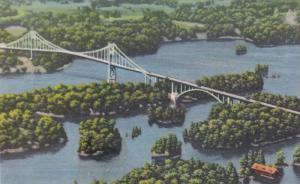 Canadian Spans, Thousand Islands International Bridge, Canada to United State...