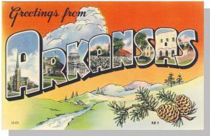 Arkansas/AR Postcard, Greetings From Arkansas, Near Mint!