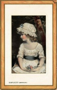 SIMPLICITY~REYNOLDS~TUCK FRAMED GEM GLOSSO #5778 ART POSTCARD