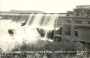 Cannon Falls Minnesota~Northern States Power Dam~Power House~1940s RPPC