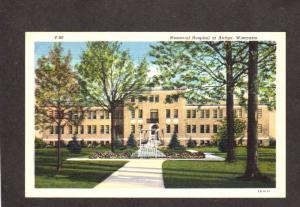 WI Memorial Hospital Antigo Wisconsin Linen Postcard near Wausau WI