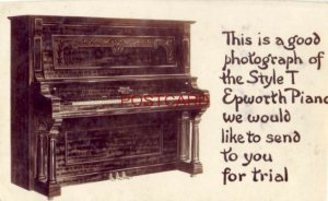 PHOTO -  STYLE T EPWORTH PIANO - old advertising for free trial