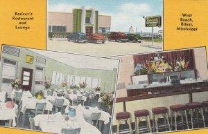 BILOXI , Mississippi , 1930-40s ; Baricev's Restaurant & Lounge