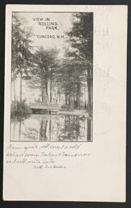 View in Rollins Park Concord NH 1906