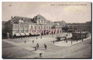 Nice - Place Massena - Municipal Casino - Old Postcard