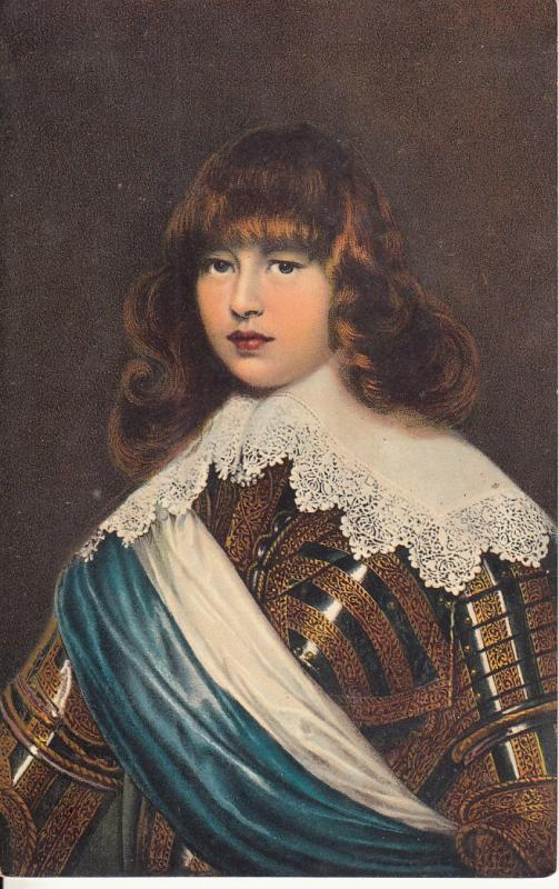 Art vintage postcard portrait son of king Federigo III Denmark Danmark