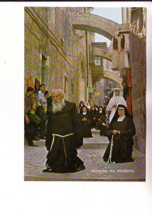 Priest and Nuns Near The Fifth Station of the Cross, Jerusalem, Palphot 8582