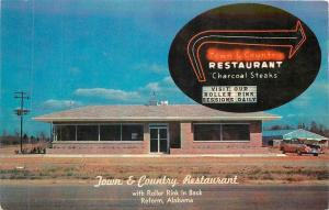 Reform AL~Town & Country Restaurant~Roller Rink~NICE 1950s Pink Car~Neon Lights