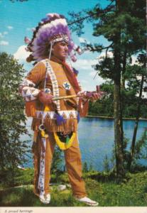 Canadian Indian Chief In Traditional Dress
