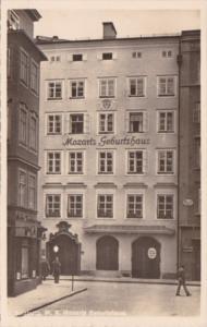 AUstria Salzburg Mozarts Geburtshaus Real Photo