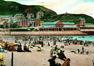 Vtg Postcard 1909 Llandudno Beach and Pavilion Cape Town South Africa