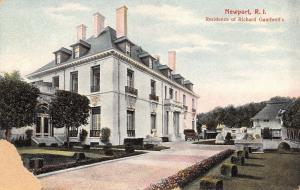 Newport Rhode Island~New York Lawyer Richard Gambrill's Mansion~1910 Postcard