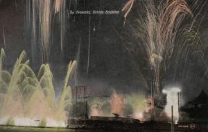 TORONTO , Ontario, 1900-10s ; C.N.E. , Fireworks