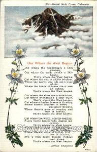 Out Where the West Begins Poem