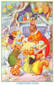 Rene Cloke Fantasy~A Pennyworth Please~Rabbits Squirrels~Candy Store~Salmon