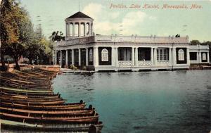 Minneapolis Minnesota~Pavilion @ Lake Harriet~Kayaks Along Shore~1910 Postcard