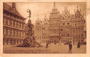 Fontaine de Brabo et Grand Place Anvers Belgium Unused