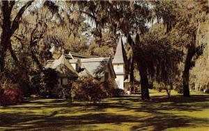 ST SIMONS ISLAND GEORGIA CHRIST CHURCH~FREDERICA~JOHN WESLEY POSTCARD 19601