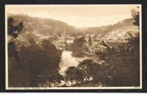 Llangollen Town from Barber's Hill Wales unused c1920's
