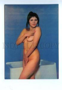 3141734 Nude Woman w/ Towel Old 3D PHOTO Color PC