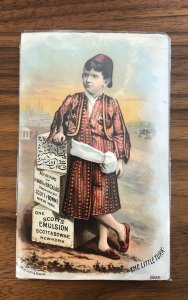 Antique Early Adv Trade Card - Scott's Emulsion 1880s  THE LITTLE TURK