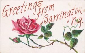 Pink Rose, Greetings From BARRINGTON, New York, 1900-1910s