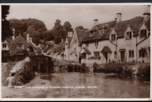 Wiltshire Postcard - The Stream & Bridge, Castle Combe   A8842