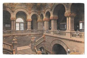 Albany NY Grand Staircase State Capitol Vtg 1911 Postcard
