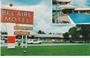 FAYETTEVILLE , NC , 50-60s ; BEL-AIRE Motel, Parking Lot view & Swimming Pool