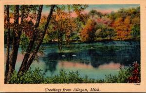 Michigan Greetings From Allegan 1941