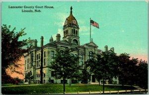 1912 Lincoln, Nebraska Postcard LINCOLN COUNTY COURT HOUSE w/ NE Cancel