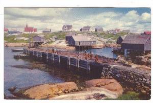 Scenic view of Peggy's Cove, Halifax, Nova Scotia, Canada, 40-60s