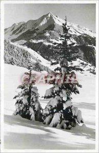 Modern Postcard Leysin Pic Chaussy