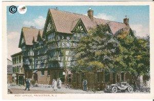 Vintage Postcard, Post Office Princeton New Jersey Government Building, Ephemera