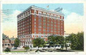 Hotel Patrick Henry, Roanoke, Virginia, VA, 1928 White Border